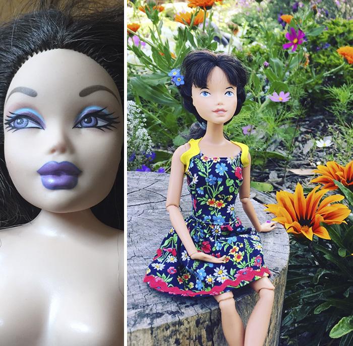 Девушка рисует старым куклам реалистичные лица и придумывает им характеры