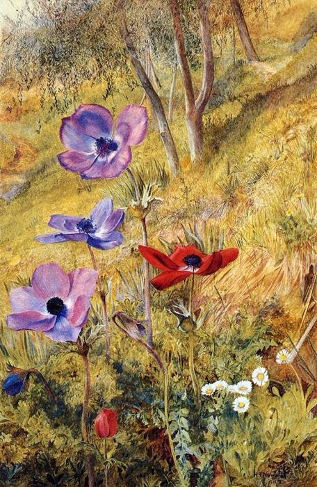 Безмолвные цветы — властители пространства… Художник Henry Roderick Newman