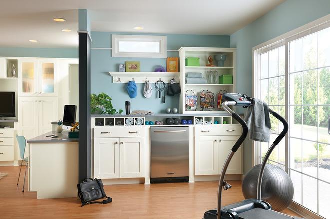 Классический Домашний тренажерный зал by American Woodmark