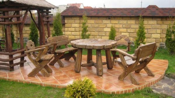 Мебель из дерева для дачи из дерева своими руками