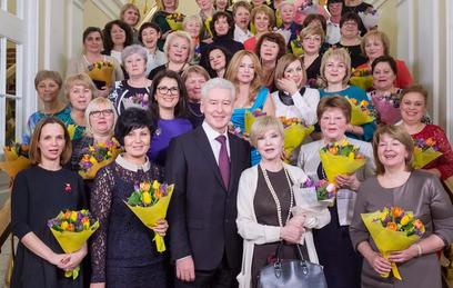 Собянин поздравил москвичек с 8 марта