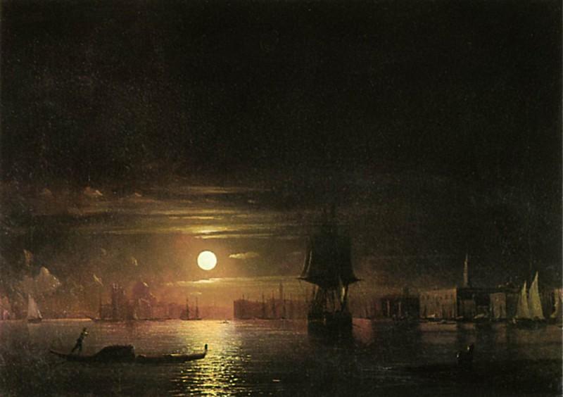 Ночь в Венеции 1861 91х126. Иван Константинович Айвазовский
