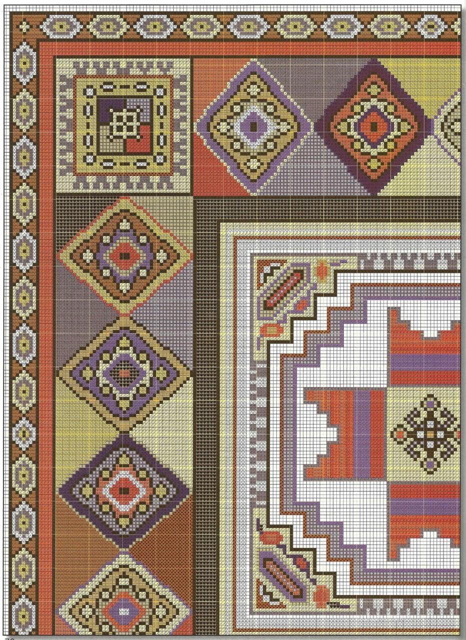 Подушки в восточном стиле - вышивка крестом схема 5