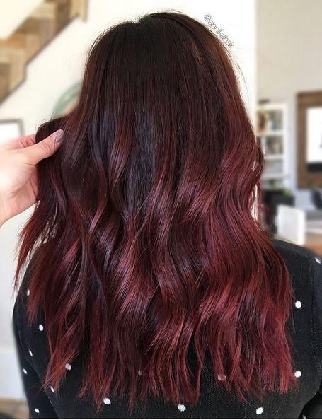 винный цвет волос 2018