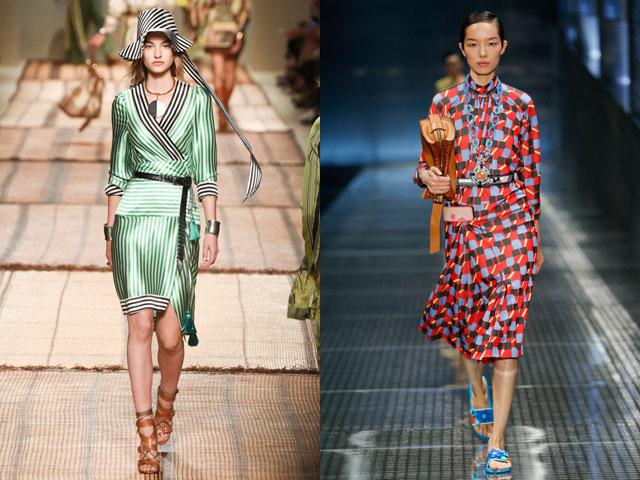 Геометрический принт в повседневных платьях 2017