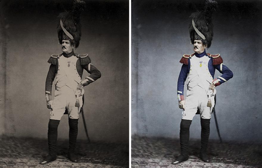 Фотографии времен Наполеоновской армии в цвете