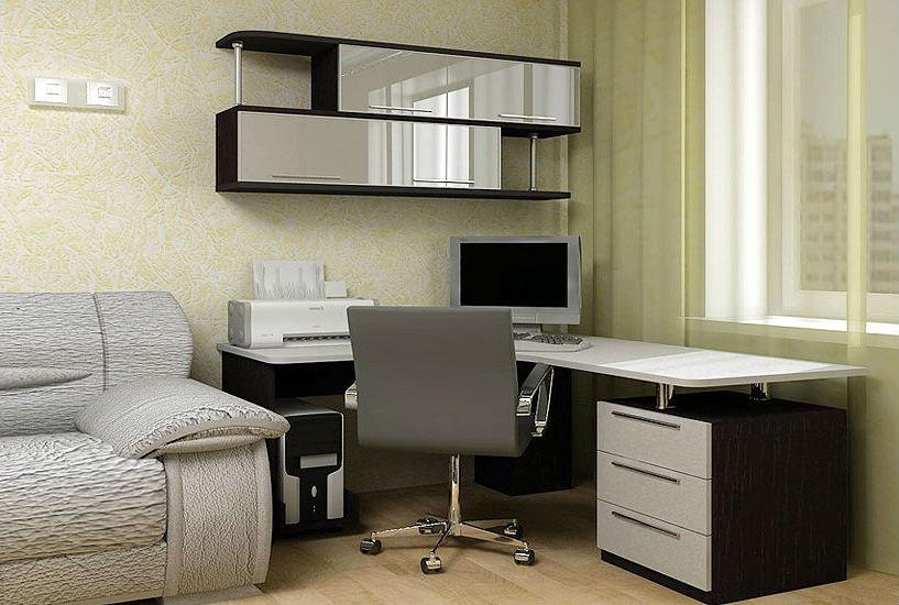 Дизайн угловых компьютерных столов фото