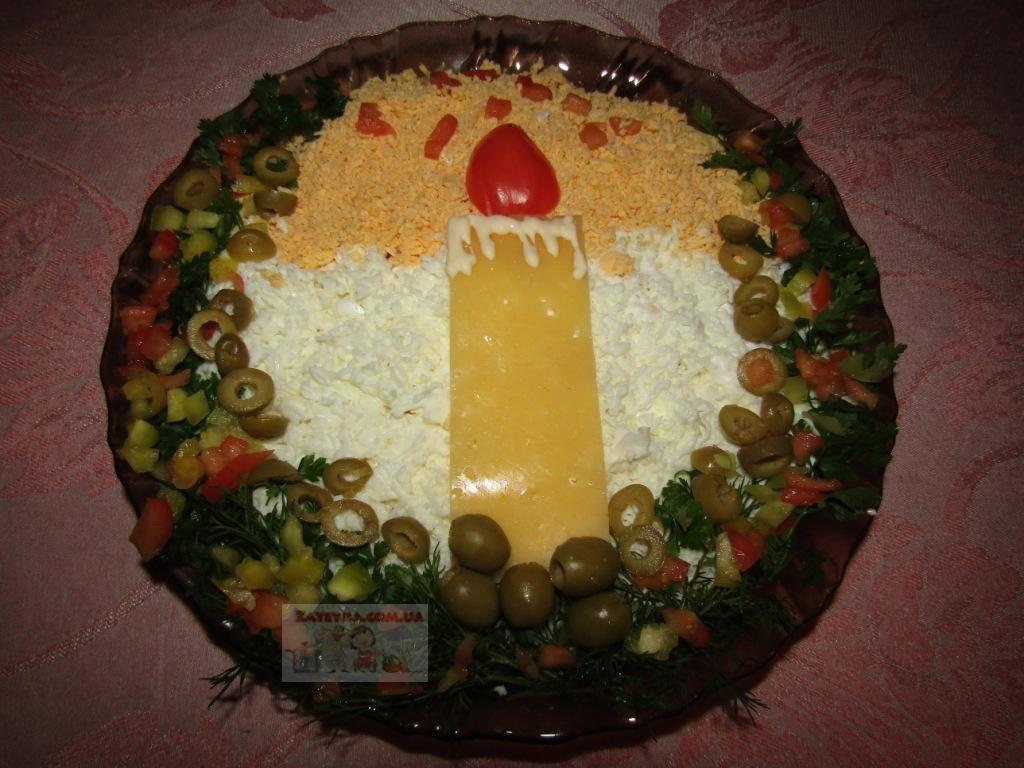 Новогодний салат «Свеча» с в…