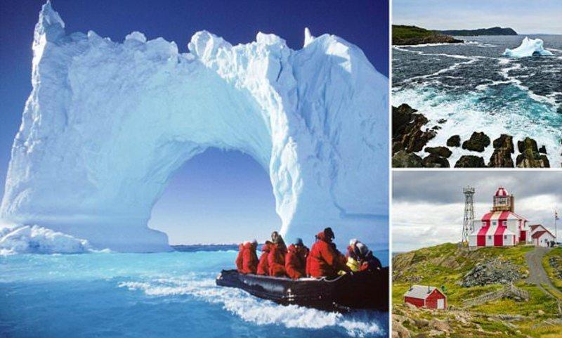 """""""Аллея айсбергов"""" - популярнейший туристический аттракцион в Канаде"""