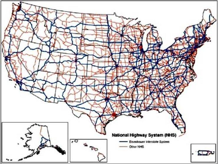 Как строятся и служат 40 лет без ремонта дороги США