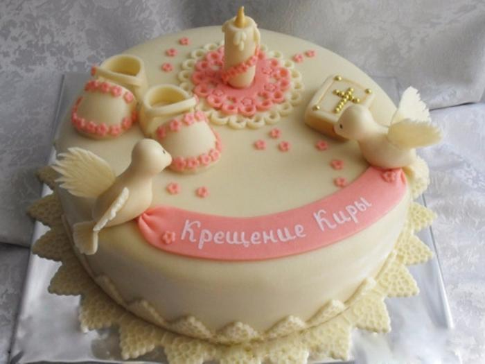 Фото торта с крещением ребенка