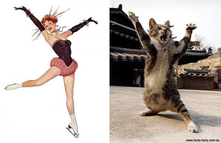 pinupcats17 Кошки и девушки в стиле пинап