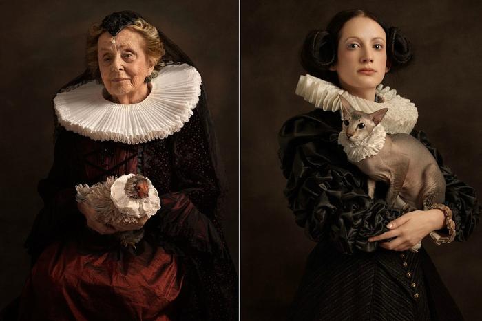 Изысканные фотопортреты великолепных женщин, выполненные в духе фламандской живописи