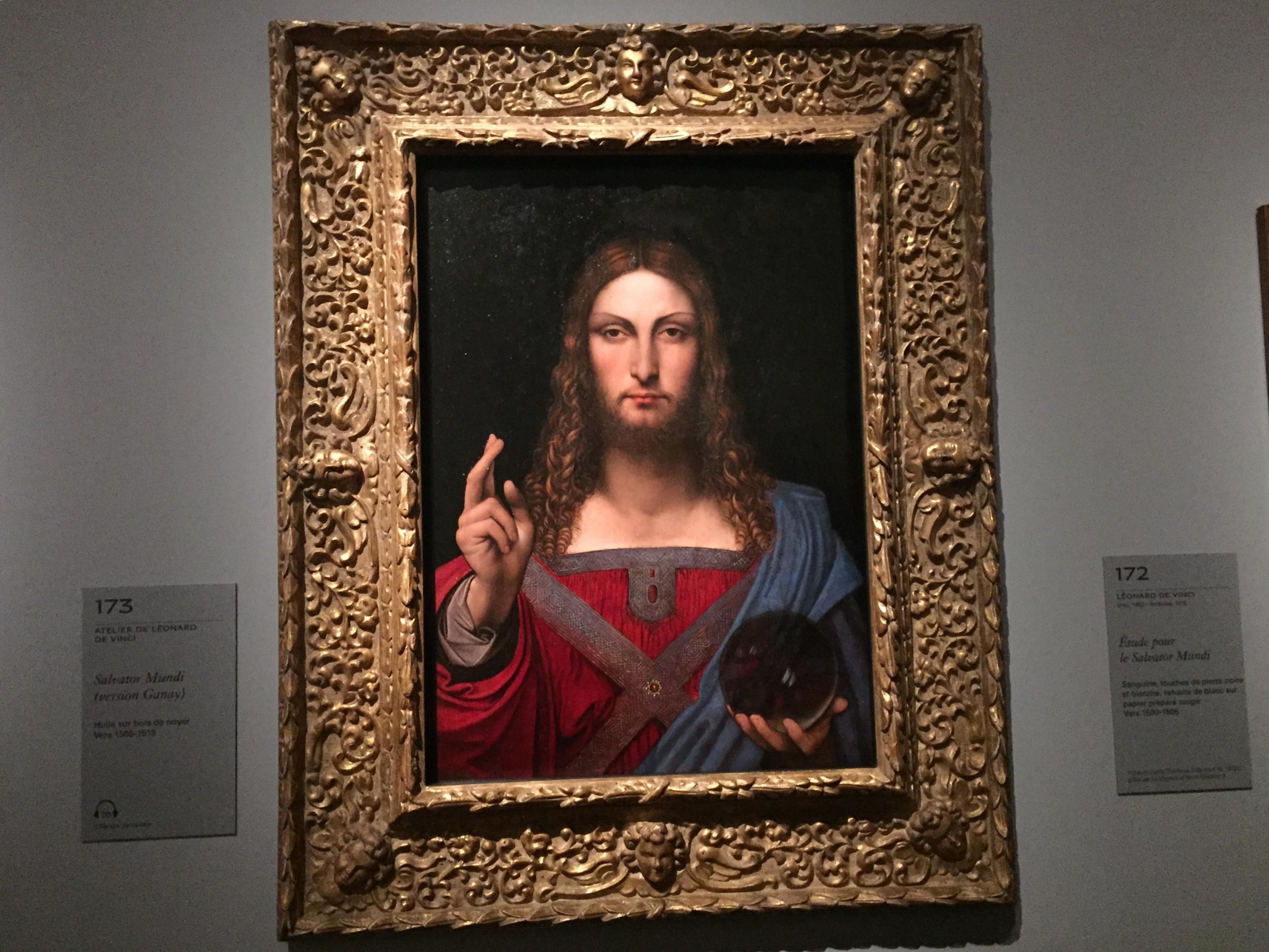«Спаситель Мира» Леонардо так и не выставлен в Лувре. Но там есть вторая версия