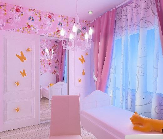 Как обустроить детскую комнату. Комната для девочки.