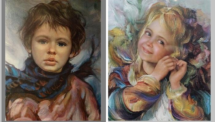Романтические портреты детей от Франсиско Массерии. |Фото: pinterest.com / livejournal.com