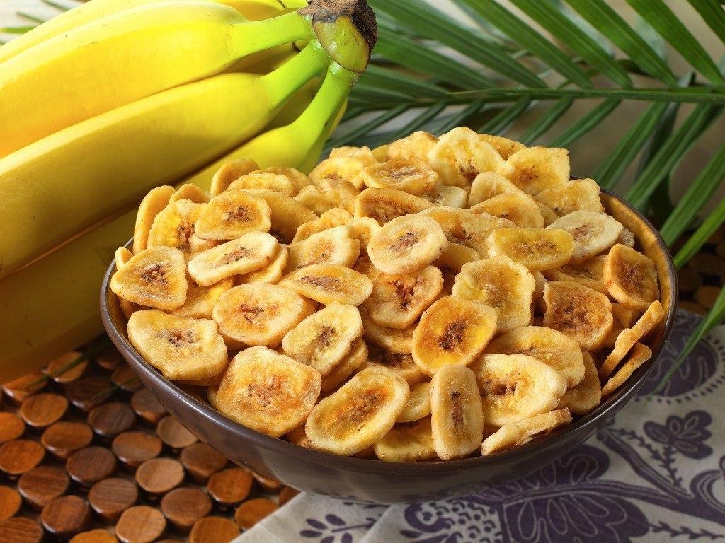Как сделать из банана чипсы