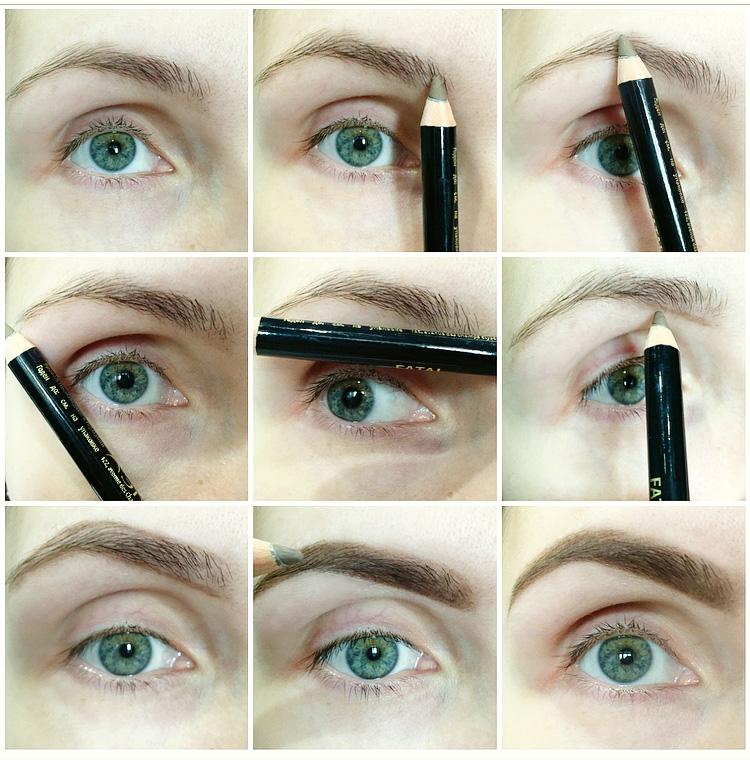 Как оформить свои брови фото