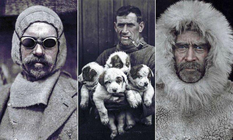 Колоризованные фото известных полярных исследователей 19-20 веков