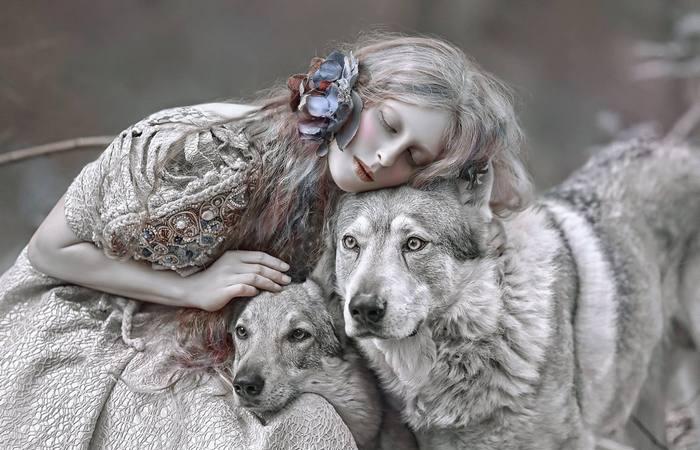 Хрупкая эльфийка, женщина-зима и другие сказочные девы на фоне таинственных пейзажей