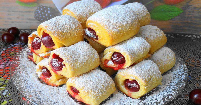 «Вишни под снегом» - вкусное и хрустящее печенье с кислинкой!