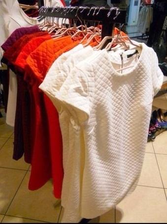 Шъём платье из стёганого трикотажа