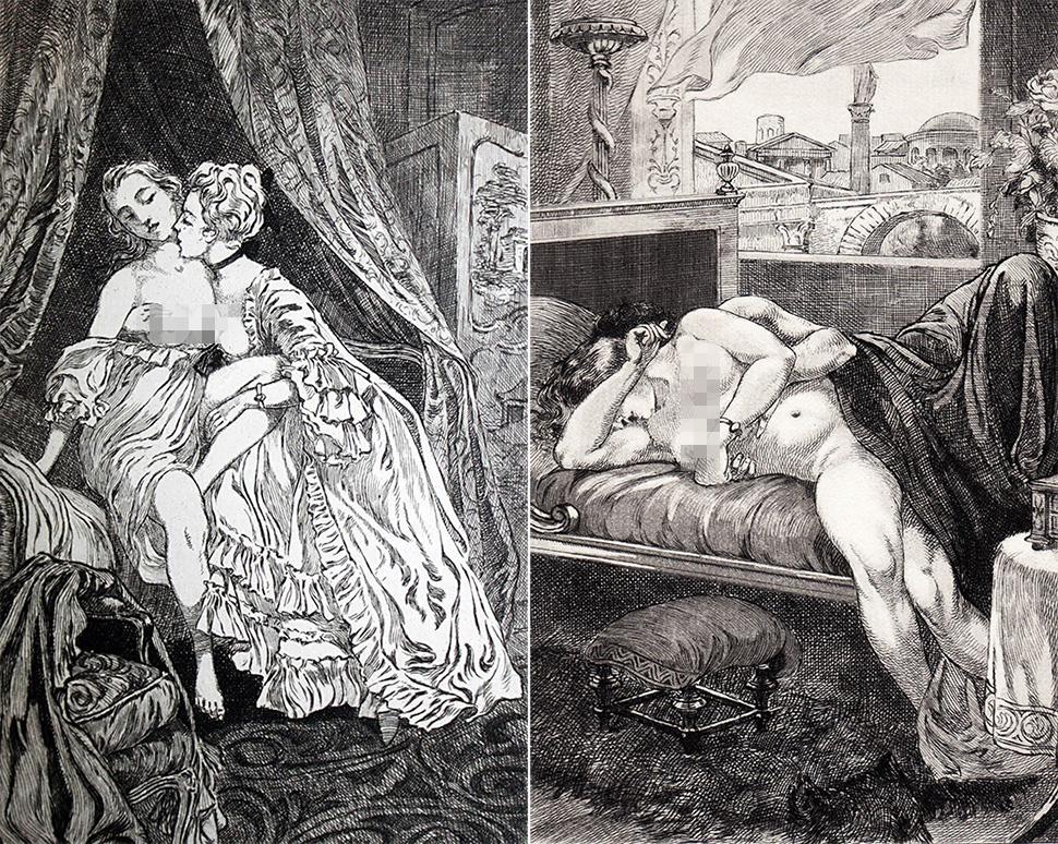 Содомические иллюстрации XIX века