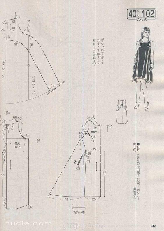 Платья с углами (выкройки)