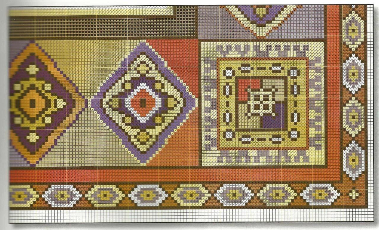 Вышивка крестов в восточном стиле