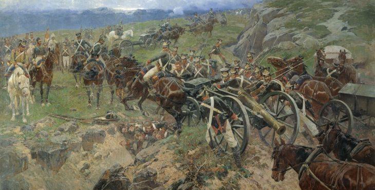 «Живой мост» из русских солдат