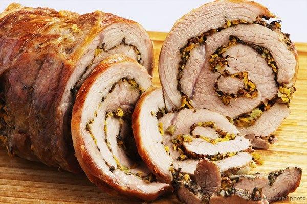 Итальянская Поркетта (маринованное и запеченное мясо)