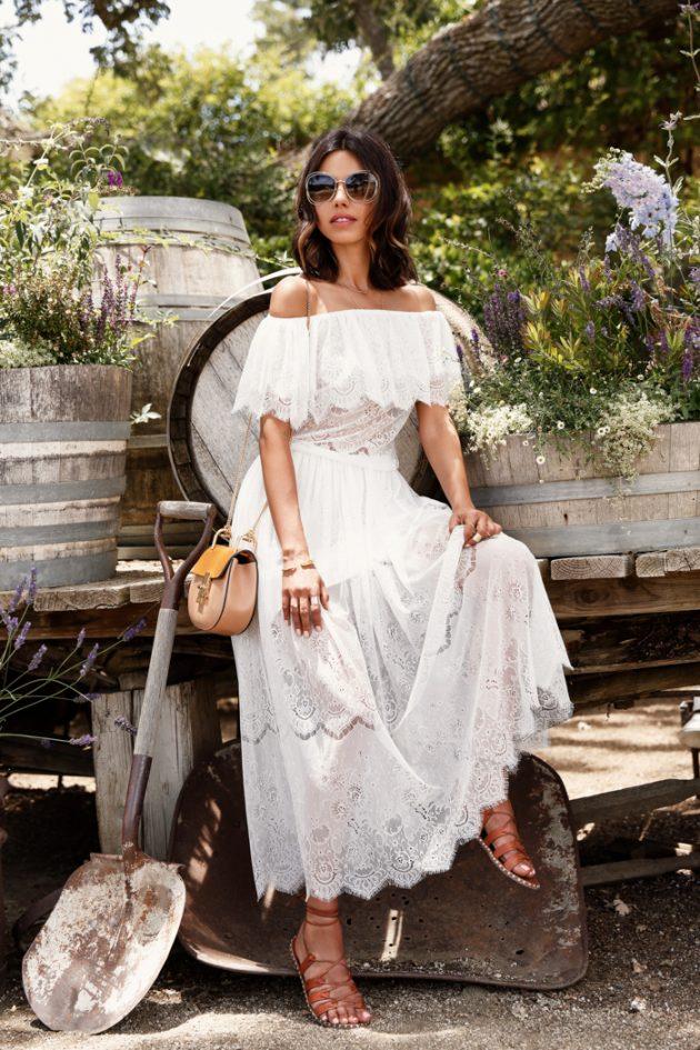 Белое кружевное платье — 18 способов носить его так, чтоб это было стильно, но не слишком вычурно