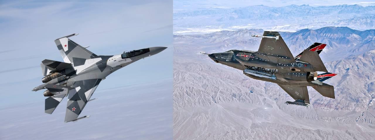 Сравнение российского Су-35 и американского F-35 Lightning II