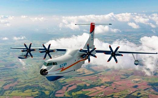 ВКитае прошел испытания крупнейший вмире самолет-амфибия AG600