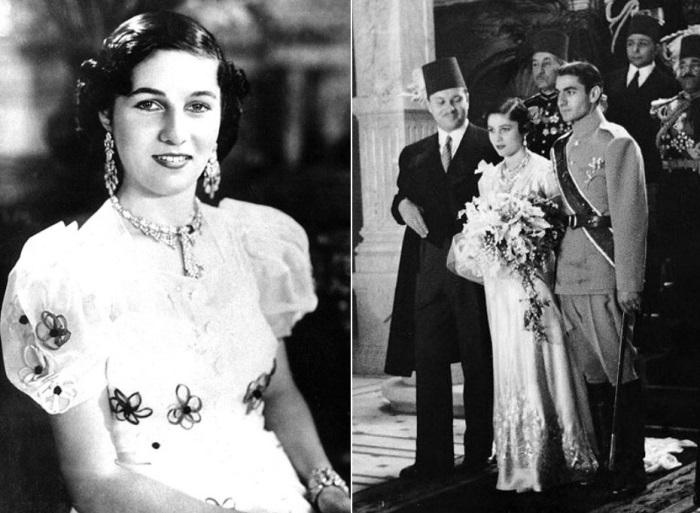 Принцесса Фавзия и Мохаммед Реза Пехлеви на церемонии бракосочетания, 1939 | Фото: aeslib.ru