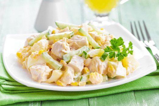 Секреты приготовления салатов с ананасом