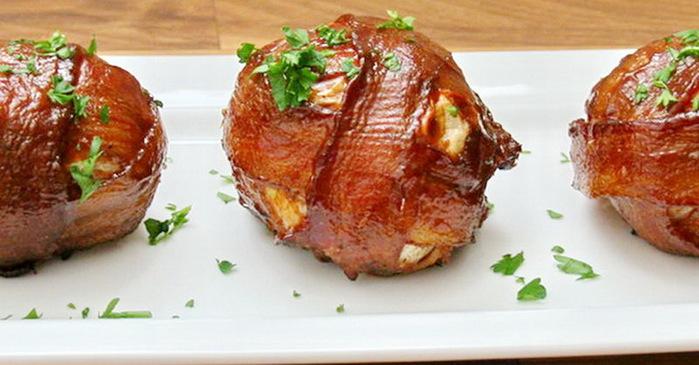 Запечённые луково - мясные шарики