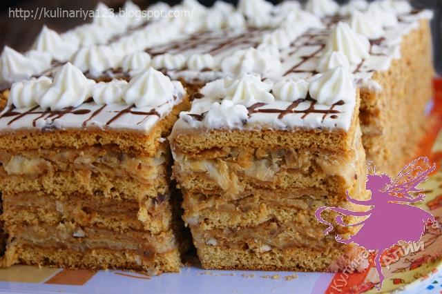 """Торт """"Арлекин""""- вкуснейший союз """"Медовика"""" и """"Наполеона"""""""