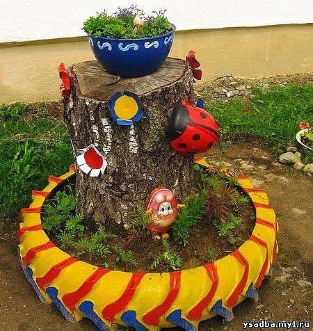 Когда хлам превращается в искусство в вашем саду