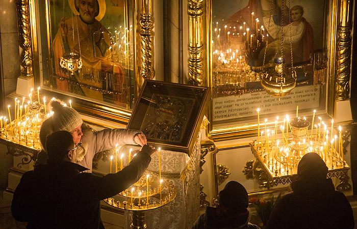 Более 2,5 млн человек встретили Рождество по всей России