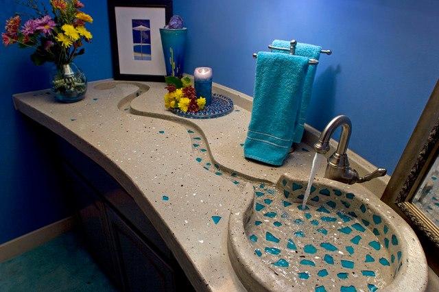 Дизайн столешницы в ванной