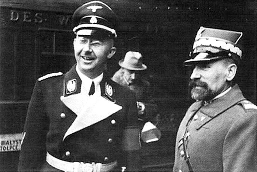 Польский генерал Заморский и автор «окончательного решения еврейского вопроса» Генрих Гиммлер