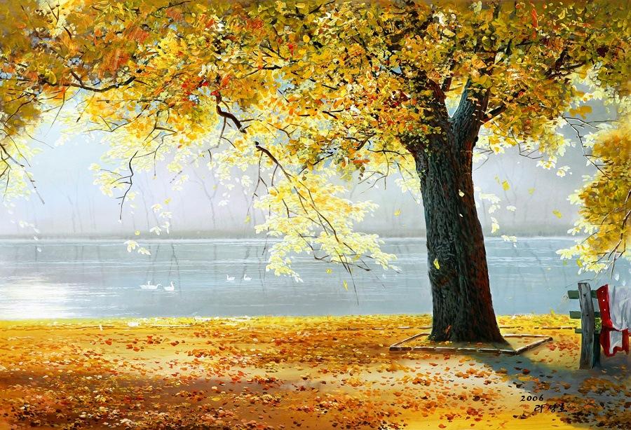 Краски осени, корейский художник Lee Sung