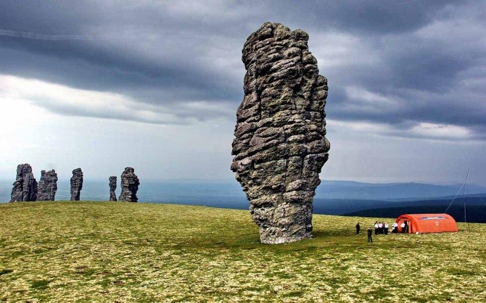 Каменное чудо среди Уральских гор