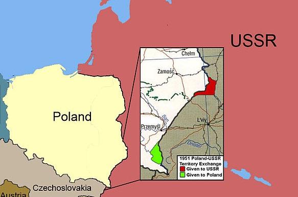 Зачем в 1951 году СССР и Польша обменялись территориями