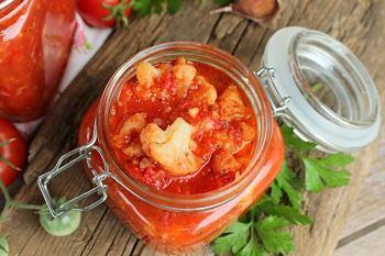 цветная капуста с томатным соусом на зиму