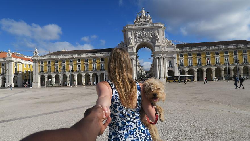 Маленькая собачка обрела любящую маму и путешествует с ней по миру!