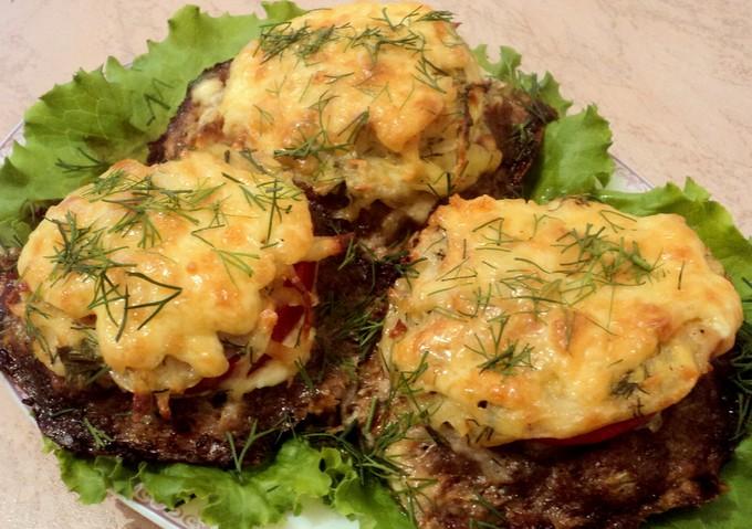 Котлеты из фарша в духовке с сыром рецепт с фото пошагово