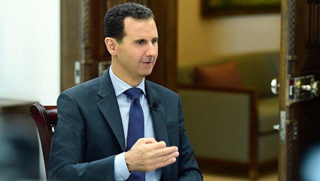 Дамаск: Башар Асад обвинил Запад в пособничестве террорист