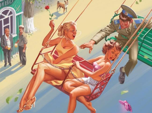 Как это было в СССР — любовь и все такое в веселых плакатах Валерия Барыкина
